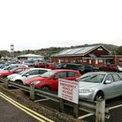 Woodmead Halls car park at Lyme Regis where parking permits will remain valid for another year. Picture Chris Carson