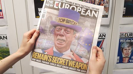 Remain's Secret Weapon? Nigel Farage pictured on the front of The New European's Issue #168. Photo: