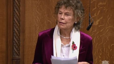 Kate hoey gave her final speech in parliament on Tuesday afternoon. Photo: Parliamentlive