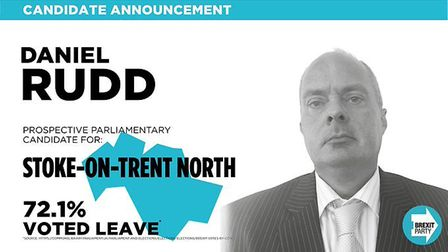 Brexit Party general election candidate for Stoke-on-Trent north Daniel Rudd referred to immigrants
