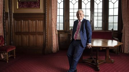 John Bercow, ex-Speaker of the House of Commons poses for a portrait inside the House of Commons. Photo: Dan...