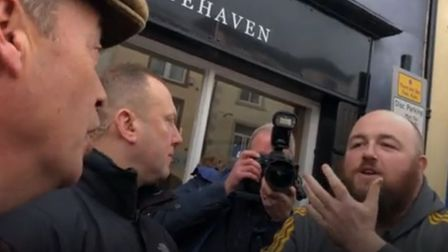 "A man in Cumbria has confronted Nigel Farage, saying the Brexit Pary leader had profited from the ""p"