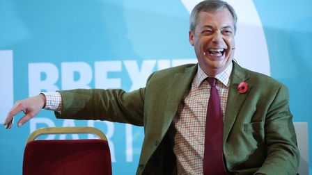 Brexit Party leader Nigel Farage on the election trail. Photograph: Danny Lawson/PA Wire.