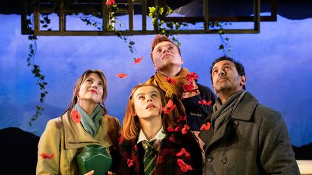 (Left to right) Claire Goose (Thea) Will Fletcher (Lenny) Rosie Day (Billie) Navin Chowdhry (Gil). T