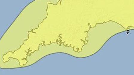 The Met Office has issued a yellow warning of ice for Saturday night through to Sunday.