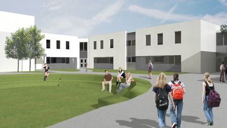 An artist's impression of the proposed new classrooms at Chulmleigh Community College.