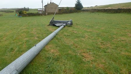 The Beckett family in West Yorkshire have also seen their wind turbine blow over, similar to the eve