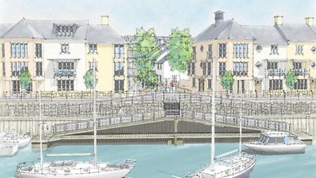 How things could look: an artists' impression of the marina.