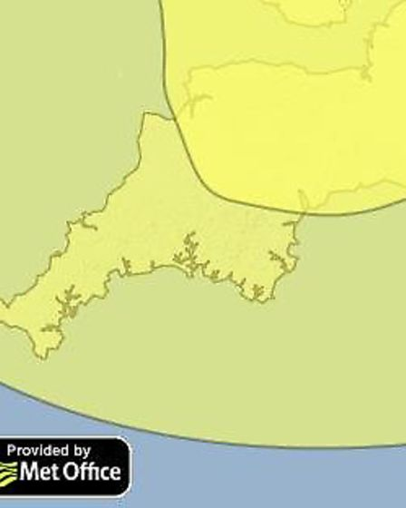 A yellow warning of snow and ice is in place today (Weds)