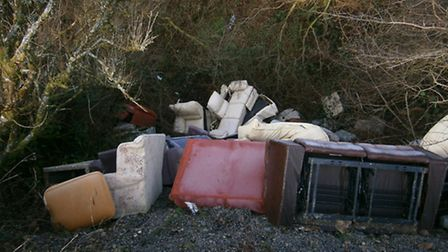 Up to 100 sofas and other items have been tipped down a gully known as Breakneck Hole, off the B3358
