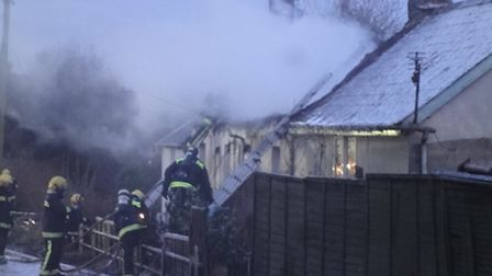 Up to 80 firefighters from all over North, East and West Devon have been battling a fire at a thatch