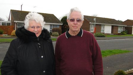 Michael Screech and neighbour Wendy Poutney have both complained about the buses using their road as