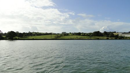The proposed marina site, viewed from the River Torridge.