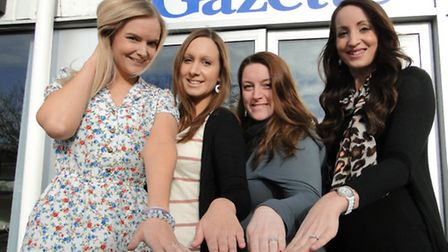 Emily Tippet, Steph Jones, Sian Lewis and Lucy Evans all got engaged over Christmas.
