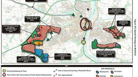 The map for Bideford