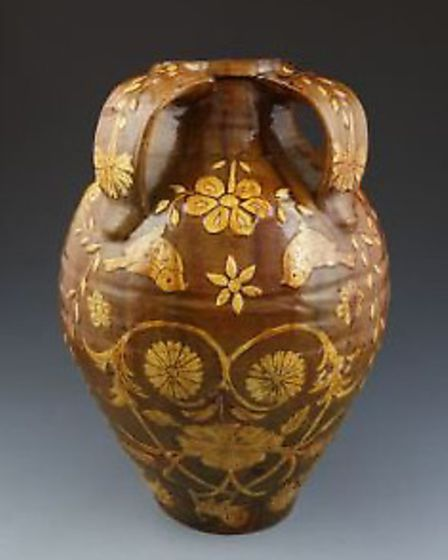 The unusual pot will be up for auction at Dukes Auctioneers.