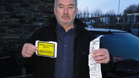 Barry Draper was fined £70 after spending more than £100 in Asda on Thursday.
