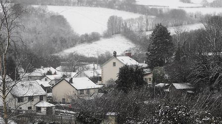 The snow in Brayford on Friday. Pic: Darren Robins.
