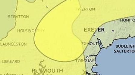 Ice and high winds are forecast across Devon.