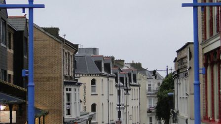 The top of Fore Street, Ilfracombe.