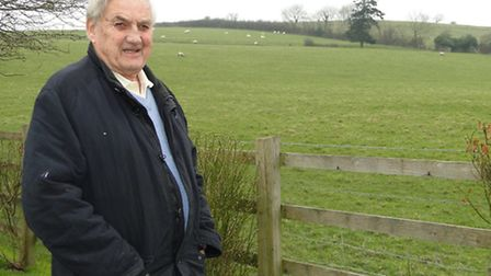 Ken Andrew, whose property would have been flanked by new houses on three sides had the plans at Goo