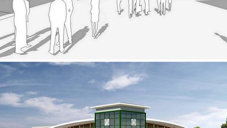 Artists' impressions of the Asda proposal (above) and the Morrisons proposal (below).