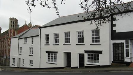 The properties at 1-3 Bridge Street which would form the Visitor Centre.