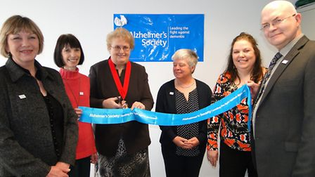 Deputy mayor Val Elkins is joined by the local team of Wendy Toms, Jacqueline Patton, Maggi Rogers,
