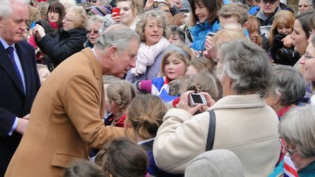 The Prince of Wales and Duchess of Cornwall visit Braunton to meet villages affected by the December