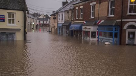 The village was under four ft of water at the peak of the flooding on December 22. Pic: Tony Howells