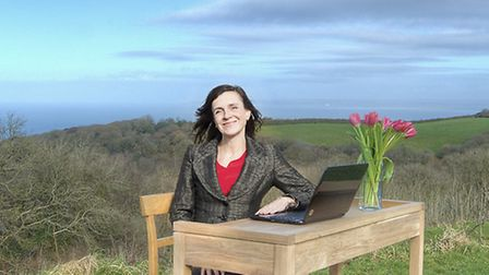 Route 39 Academy principal Joss Glossop picks out a spot for her desk at the site of North Devon's n