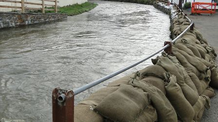A flood alert has been placed on the River Caen in Braunton.