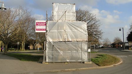 Bideford's Kingsley Statue is getting a facelift. Scaffolding is set to be removed in the next coupl
