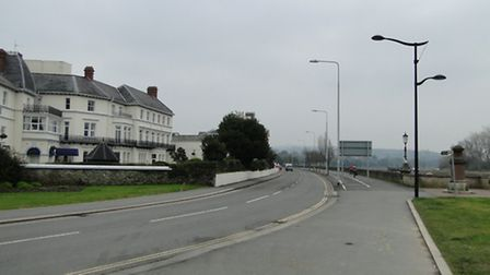All quiet: Residents say they fear the return of the traffic jam if Taw Vale in Barnstaple was reope
