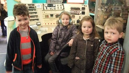 Pictured at Friday's Shipwrecked event with the Ilfracombe ship to shore radio display at the museum