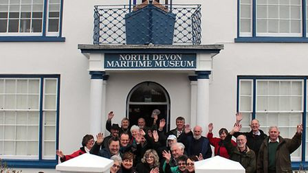 North Devon Maritime Museum's volunteers outside the newly refurbished building.
