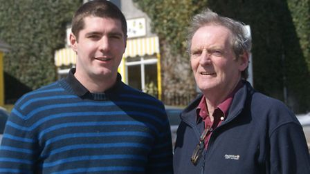 Father and son Paddy and Ian Wallace, owners of South Molton's Quince Honey Farm.