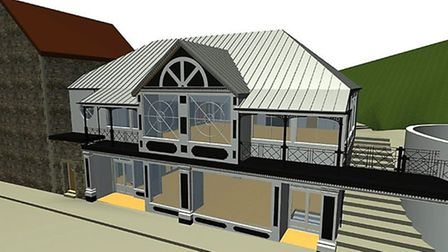 A impression of how the newly rebuilt Lynmouth pavilion will look.