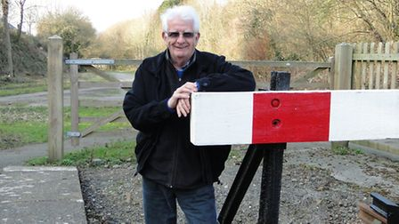 Rod Garner, secretary of the Tarka Valley Railway Group, hopes to see the track continue beyond the