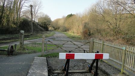 The end of the line in Torrington, but for how long? The group would like to see the track extend to