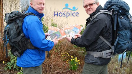 Keith Maynard and Dave Eaton will be trekking nearly 240 miles from Brighton to Barnstaple this May