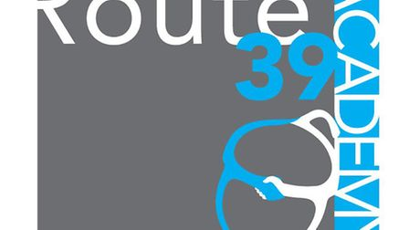 The finished Route 39 logo, design concert by Allie Street, completed by designer Tim Stafford.