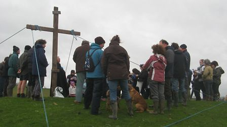 Villagers in Swimbridge will gather this Good Friday to erect a large cross on Hooda Hill.