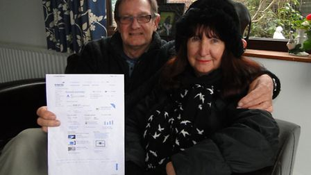 Yelland pensioners Joanne and Jim Bell say they have saved hundreds of pounds on their British Gas f