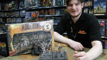 Nathan Talbot at the Games Workshop store in Barnstaple.