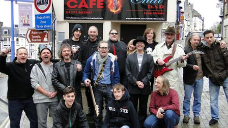Connor Mackay and friends gather at The Chill Bar in Ilfracombe to promote the Con-Tribute fund rais