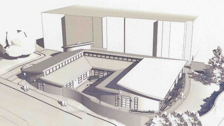 An artist impression of the new chemotherapy unit and day treatment centre.