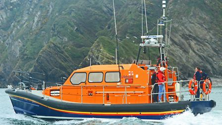 The new Shannon class all-weather lifeboat in Ilfracombe. Picture: RNLI/A Maslen.
