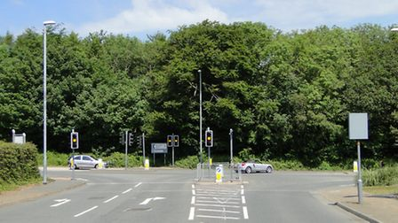 The site of the proposed development opposite Atlantic Village.