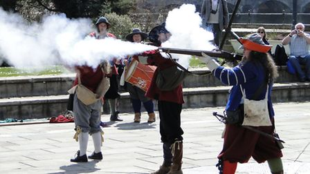 Scenes from the English Civil War historical re-enactment on Saturday at Barnstaple Heritage Centre